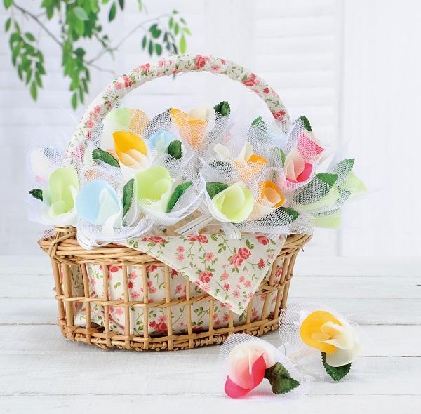 プチギフト ほの花のパニエ アソート(50個)結婚式 二次会 ウェディング パーティー 耳かき