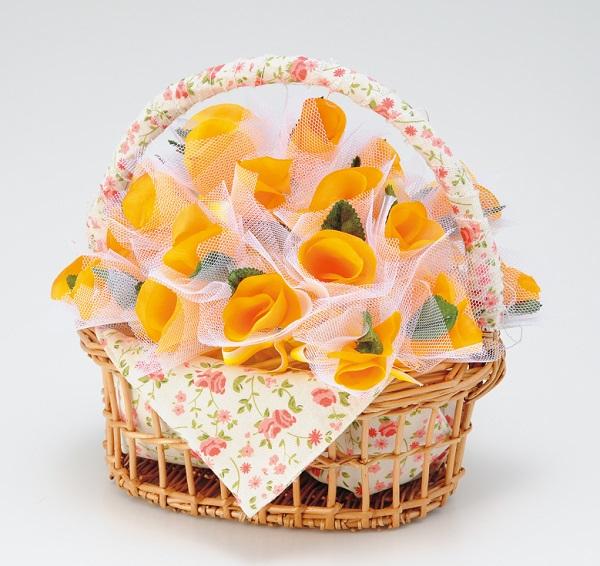 ぷちぎふと ほの花のパニエ オレンジ(50個)ウェディング プチギフト パーティー イベント 耳かき