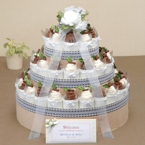 プチギフト シャンティーミックスケーキタオル(42個) 結婚式 二次会 プチギフト 激安 かわいい タオル ウェディング ウエディング プレゼント ブライダル プチギフト ウエルカムケーキ パーティー
