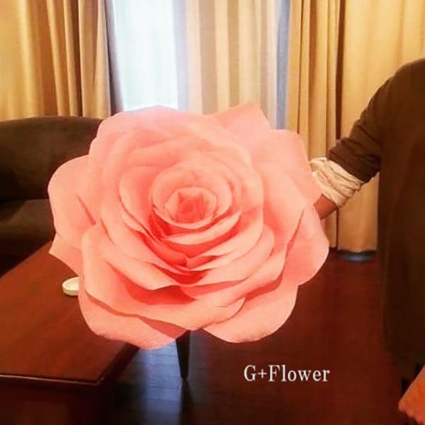 Mローズ ピンクL 演出 フラワー ビッグフラワー 造花 アイテム 結婚式 二次会 パーティー ウェディング