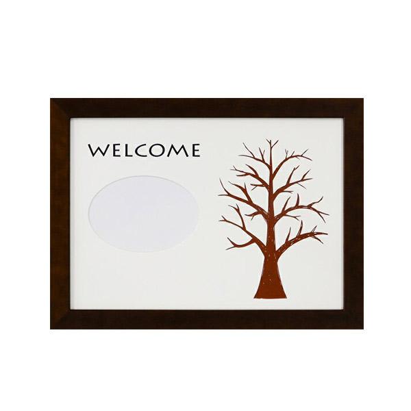 ウェディングツリー フラットH-240ブラウン 写真入り プレゼント 結婚式 演出 プレゼント 贈り物 記念品 記念 人気 ウェディング ウェルカムボード 手作り メモリーボード