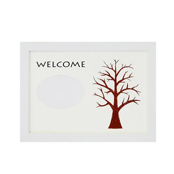ウェディングツリー フラットH-240ホワイト 写真入り プレゼント 結婚式 演出 プレゼント 贈り物 記念品 記念 人気 ウェディング ウェルカムボード 手作り メモリーボード