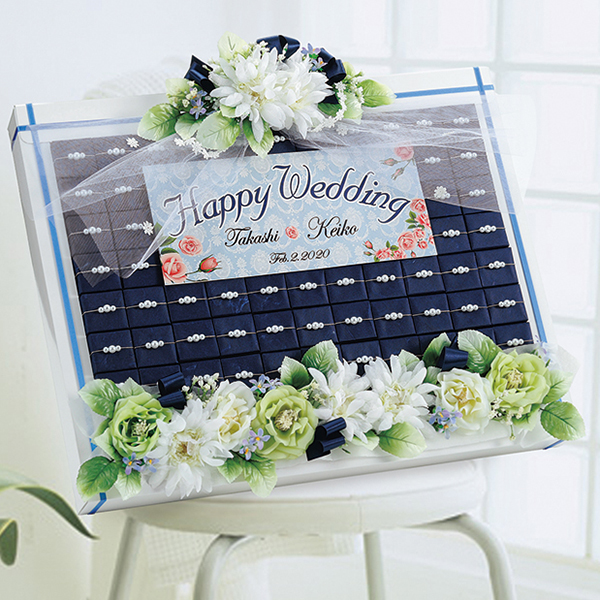 プチギフト アクア・フローラル(ドラジェ)56個セット 結婚式 ギフト かわいい ブライダル プチギフト ウェディング 二次会 パーティー お菓子 日本製