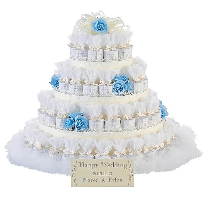 プチギフト レースデコレーション ブルー 72個セット 結婚式 2次会 ウェルカムオブジェ