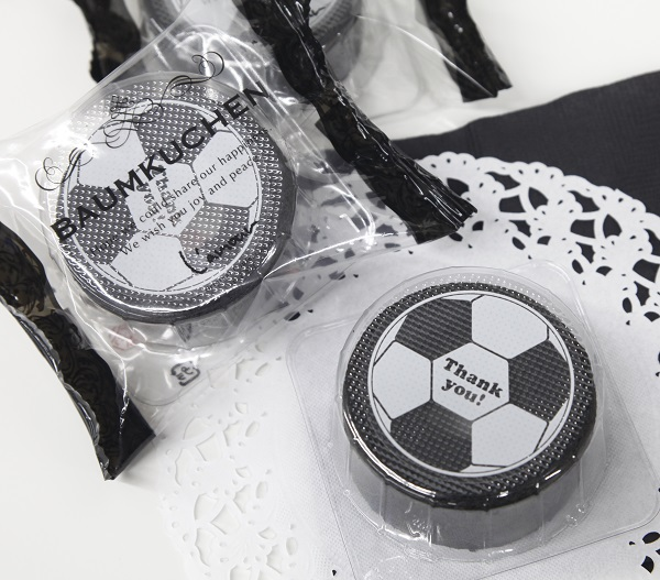 プチギフト サッカーミニバウム240個 プチギフト 業務用 焼き菓子 お菓子 ギフト スイーツ 景品 プレゼント バームクーヘン サッカー