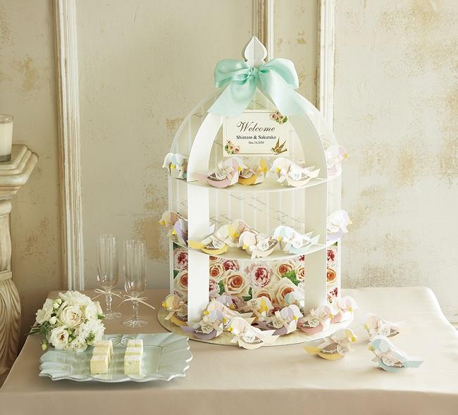 プチギフト ウェルカムバード(ハチミツレモン飴)48個セット 結婚式 プチギフト ブライダル パーティー かわいい 人気 激安 ウェディング ギフト お菓子 あめ キャンディ