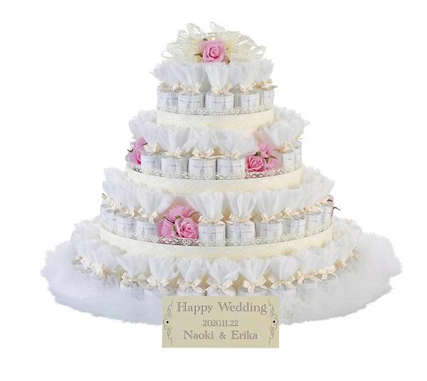 プチギフト レースデコレーション ピンク 72個セット 結婚式 ウエディング ウエルカムアイテム プレゼント オブジェ