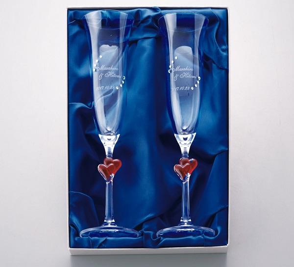 贈呈用シャンパングラス(ペア)【演出】 名入れ プレゼント 結婚式 演出 プレゼント 贈り物 記念品 記念 ウェディング