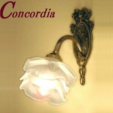 【ブラケットライト WF323+237/SAT】照明 壁 壁照明 ガラス 真鍮 薔薇 バラ