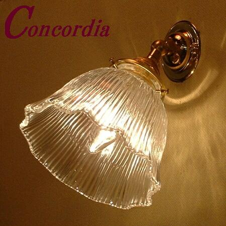 【ブラケットライト WB235+201/CLR】真鍮製 壁照明 ガラスシェード アンティーク調 伝統的 ヨーロッパ 階段 廊下 洗面所 おしゃれ かわいい LED電球使用可