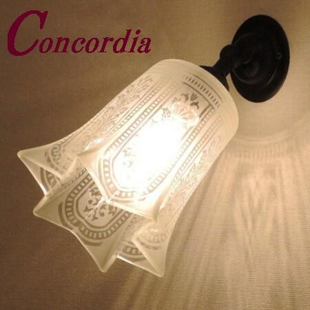 【ブラケットライト WB235/Z+411/SAT】真鍮 ガラス アンティーク風 壁照明 クラシック レトロ 可愛い 本物 玄関 廊下 アイアン風 LED電球使用可