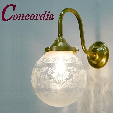 【ブラケットライト WB241+106E/SAT】 真鍮製 ガラス アンティーク調 ブラケット照明  ヨーロッパ クラシック エレガント 本格的 玄関 寝室 LED電球使用可