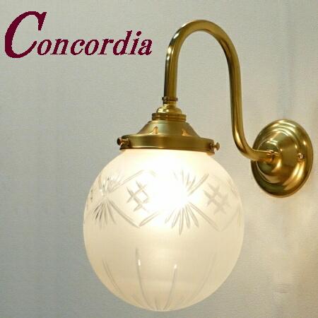 【ブラケットライト WB241+106F/CUT】 真鍮製 ガラスシェード アンティーク風 壁照明  ヨーロッパ デザイン エレガンド 洋館 玄関 洗面 LED電球使用可