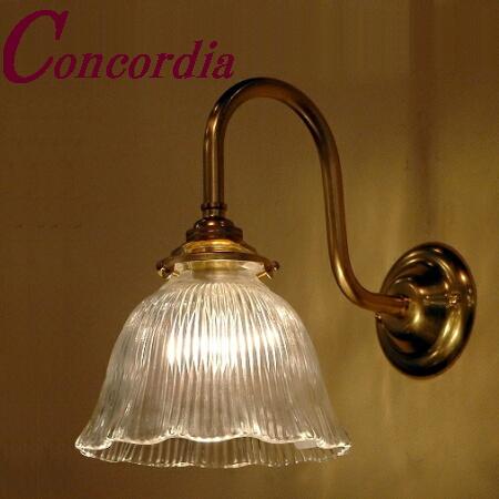 【ブラケットライト WB241+201/CLR】 真鍮 ガラスシェード アンティーク調 壁照明 シック トラディショナル 可愛い 高級 寝室 リビング LED電球使用可