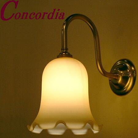 【ブラケットライト WB241+361/IVO】 真鍮製 ガラスシェード アンティーク風 ブラケット照明 デザイン レトロ エレガント 本格的 寝室 玄関 LED電球使用可