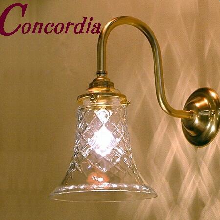 【ブラケットライト WB241+421/CUT】 真鍮 ガラスシェード アンティーク風 壁照明 クラシック レトロ かわいい 本物 玄関 洗面所 LED電球使用可
