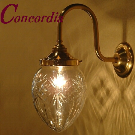 【ブラケットライト WB241+963/CUT】 真鍮 ガラス アンティーク調 ブラケット照明 デザイン レトロ エレガント 本格的 リビング 玄関 LED電球使用可