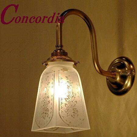 【ブラケットライト WB241+965/SAT】 真鍮 ガラスシェード アンティーク調 壁照明 クラシカル トラディショナル おしゃれ 本物 玄関 寝室 LED電球使用可