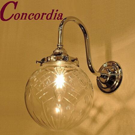 【ブラケットライト WB241/Y+106/CUT】 真鍮製 ガラス アンティーク調 ブラケット照明 クラシック かわいい 高級 洗面 玄関 クロム LED電球使用可
