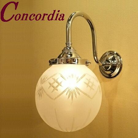 【ブラケットライト WB241/Y+106F/CUT】 真鍮 ガラス アンティーク調 ブラケット照明 トラディショナル エレンガント 本格的 寝室 玄関 シルバー LED電球使用可