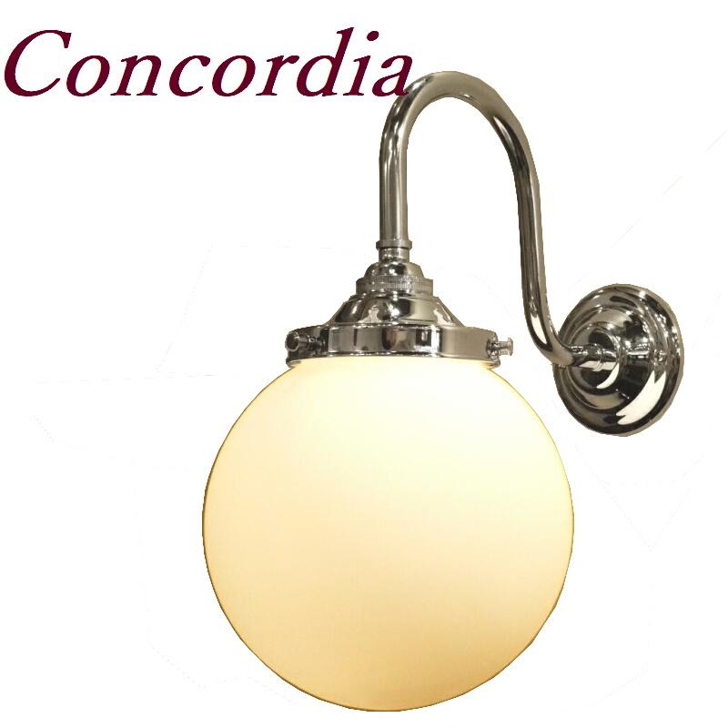 【ブラケットライト WB241/Y+106/MAT】 真鍮 ガラスシェード アンティーク調 壁照明 クラシカル 可愛い 本物 リビング 洗面所 クロム LED電球使用可