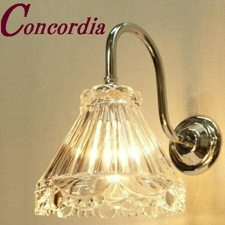 【ブラケットライト WB241/Y+477/CLR】 真鍮 ガラスシェード アンティーク風 壁照明 シック おしゃれ 本物 廊下 リビング シルバー LED電球使用可