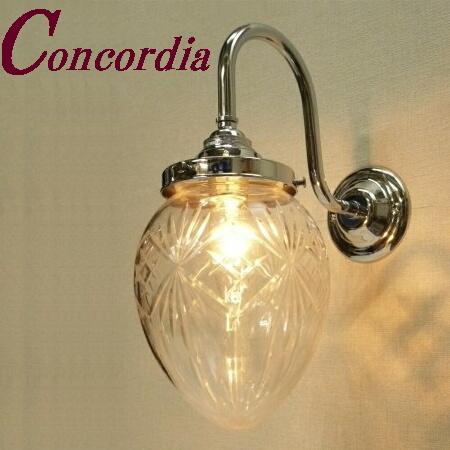 【ブラケットライト WB241/Y+963/CUT】 真鍮 ガラスシェード アンティーク調 ブラケット照明 レトロ 可愛い 洋館 廊下 玄関 クロム LED電球使用可