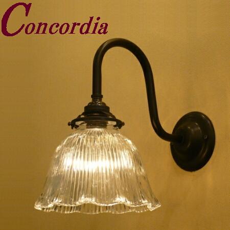【ブラケットライト WB241/Z+201/CLR】 真鍮 ガラスシェード アンティーク調 壁照明 シック トラディショナル 可愛い 高級 寝室 リビング 黒 LED電球使用可