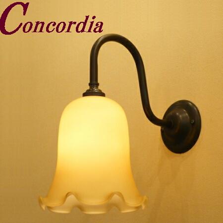 【ブラケットライト WB241/Z+361/IVO】 真鍮製 ガラスシェード アンティーク風 ブラケット照明 デザイン レトロ エレガント 本格的 寝室 玄関 黒色 LED電球使用可