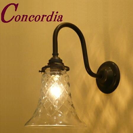 【ブラケットライト WB241/Z+421/CUT】 真鍮 ガラスシェード アンティーク風 壁照明 クラシック レトロ かわいい 本物 玄関 洗面所 黒 LED電球使用可