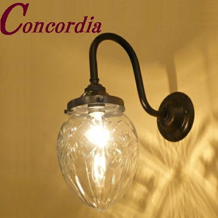 【ブラケットライト WB241/Z+963/CUT】 真鍮 ガラス アンティーク調 ブラケット照明 デザイン レトロ エレガント 本格的 リビング 玄関 黒 LED電球使用可