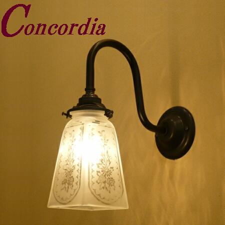 【ブラケットライト WB241/Z+965/SAT】 真鍮 ガラスシェード アンティーク調 壁照明 クラシカル トラディショナル おしゃれ 本物 玄関 寝室 アイアン風 LED電球使用可