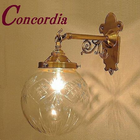 【ブラケットライト WB251+106/CUT】 真鍮 ガラス アンティーク調 ブラケット照明 トラディショナル エレンガント 本格的 トイレ 階段 LED電球使用可