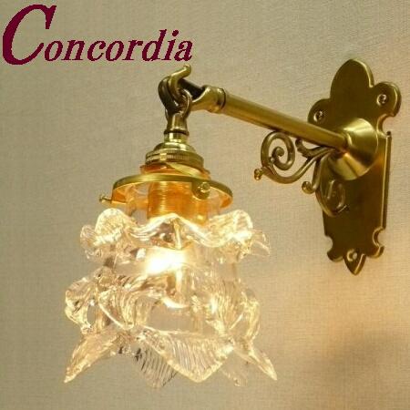 【ブラケットライト WB251+235/CLR】 真鍮製 ガラス アンティーク調 ブラケット照明 トラディショナル 可愛い 本格的 廊下 玄関 LED電球使用可