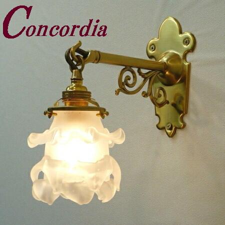 【ブラケットライト WB251+235/SAT】 真鍮 ガラスシェード アンティーク風 壁照明 シック おしゃれ 本物 洗面所 ホール LED電球使用可
