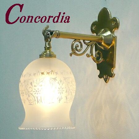 【ブラケットライト WB251+410M/SAT】 真鍮製 ガラスシェード アンティーク風 壁照明 トラディショナル 可愛い 本格的 洗面所 玄関 LED電球使用可
