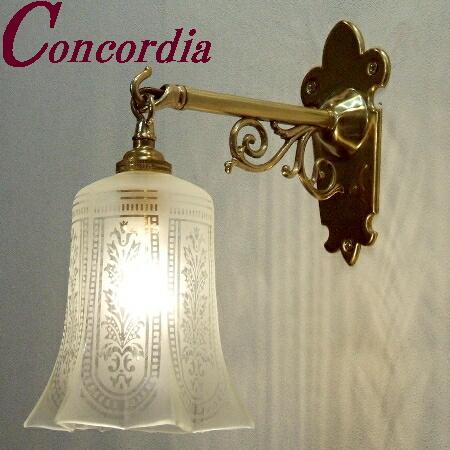 【ブラケットライト WB251+411/SAT】 真鍮製 ガラス アンティーク風 ブラケット照明 クラシック かわいい 本物 玄関 トイレ LED電球使用可