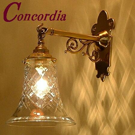 【ブラケットライト WB251+421/CUT】 真鍮 ガラスシェード アンティーク風 壁照明 シック おしゃれ 本物 廊下 トイレ LED電球使用可