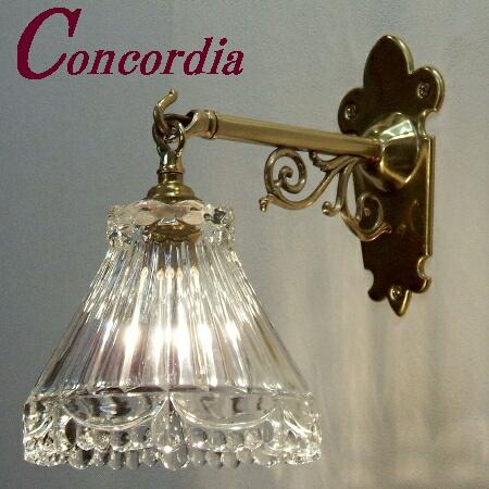 【ブラケットライト WB251+477/CLR】 真鍮製 ガラス アンティーク風 ブラケット照明 クラシック かわいい 本物 トイレ 階段 LED電球使用可