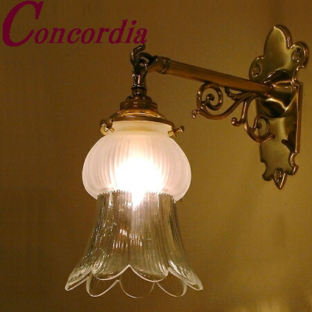 【ブラケットライト WB251+510/SAT】 真鍮製 ガラス アンティーク調 ブラケット照明 トラディショナル 可愛い 本格的 階段 玄関 LED電球使用可