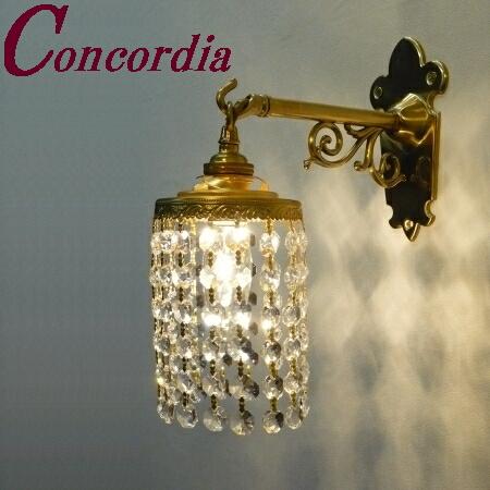 【ブラケットライト WB251+662/CLR】 真鍮製 ガラス アンティーク風 ブラケット照明 クラシック かわいい 本物 玄関 トイレ LED電球使用可