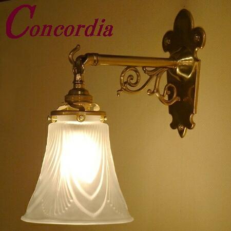 【ブラケットライト WB251+822/SAT】 真鍮製 ガラスシェード アンティーク風 壁照明 トラディショナル おしゃれ 本格的 階段 トイレ LED電球使用可