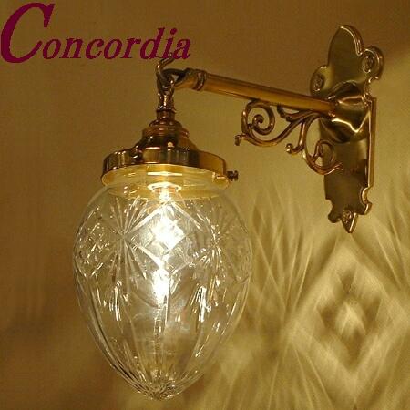 【ブラケットライト WB251+963/CUT】 真鍮製 ガラス アンティーク風 壁照明 クラシック おしゃれ 本格的 廊下 洗面所 LED電球使用可