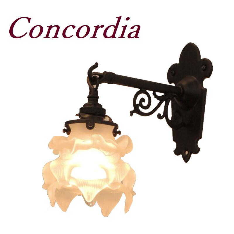 【ブラケットライト WB251/Z+235/SAT】 真鍮 ガラスシェード アンティーク風 壁照明 シック おしゃれ 本物 洗面所 ホール アイアン風 LED電球使用可