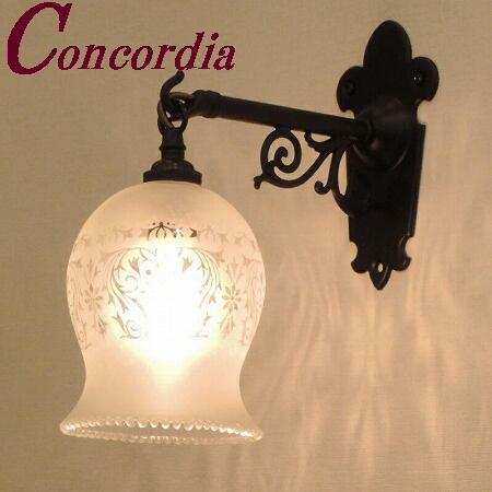 【ブラケットライト WB251/Z+410M/SAT】 真鍮製 ガラスシェード アンティーク風 壁照明 トラディショナル 可愛い 本格的 洗面所 玄関 黒 LED電球使用可