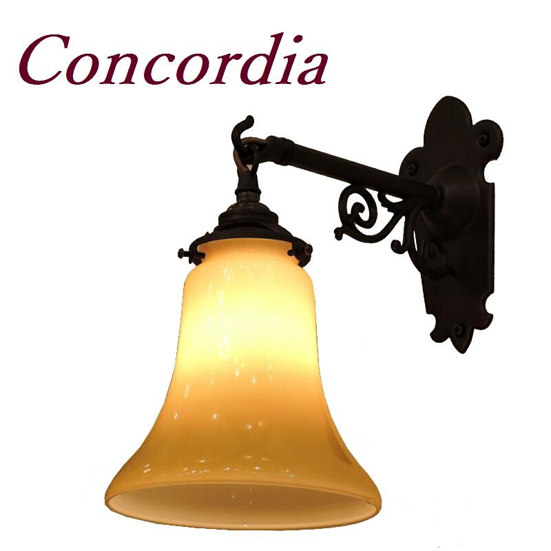 【ブラケットライト WB251/Z+421/IVO】 真鍮製 ガラスシェード アンティーク風 壁照明 トラディショナル 可愛い 本格的 洗面所 玄関 アイアン風 LED電球使用可
