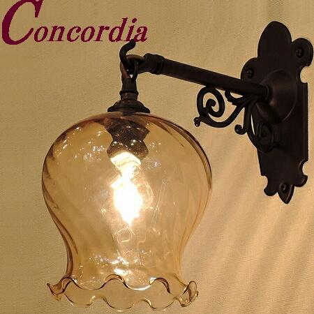 【ブラケットライト WB251/Z+520/AMB】 真鍮製 ガラスシェード アンティーク風 壁照明 トラディショナル おしゃれ 本格的 階段 トイレ 黒 LED電球使用可