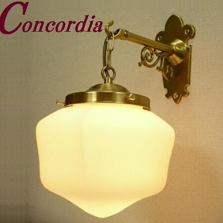 【ブラケットライト WB254+182/MAT】 真鍮製 ガラス アンティーク調 壁照明 クラシック お洒落 洋館 廊下 ホール LED電球使用可