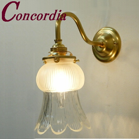 【ブラケットライト WB811+510/SAT】 真鍮 ガラス アンティーク風 ブラケット照明 デザイン ヨーロッパ おしゃれ 高級 寝室 廊下  LED電球使用可