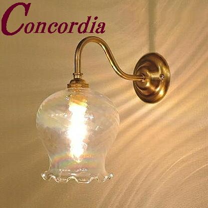 【ブラケットライト WB811+520/PRL】 真鍮製 ガラス アンティーク風 ブラケット照明 クラシカル レトロ 可愛い 高級 寝室 廊下  LED電球使用可